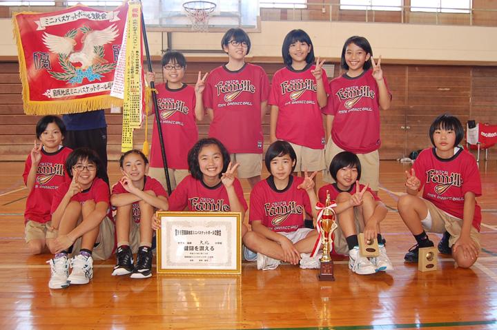 女子優勝:大北小学校
